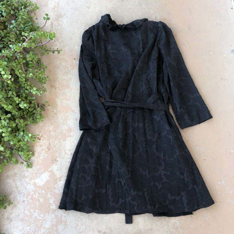 Madewell Black Wrap Dress, Size Large
