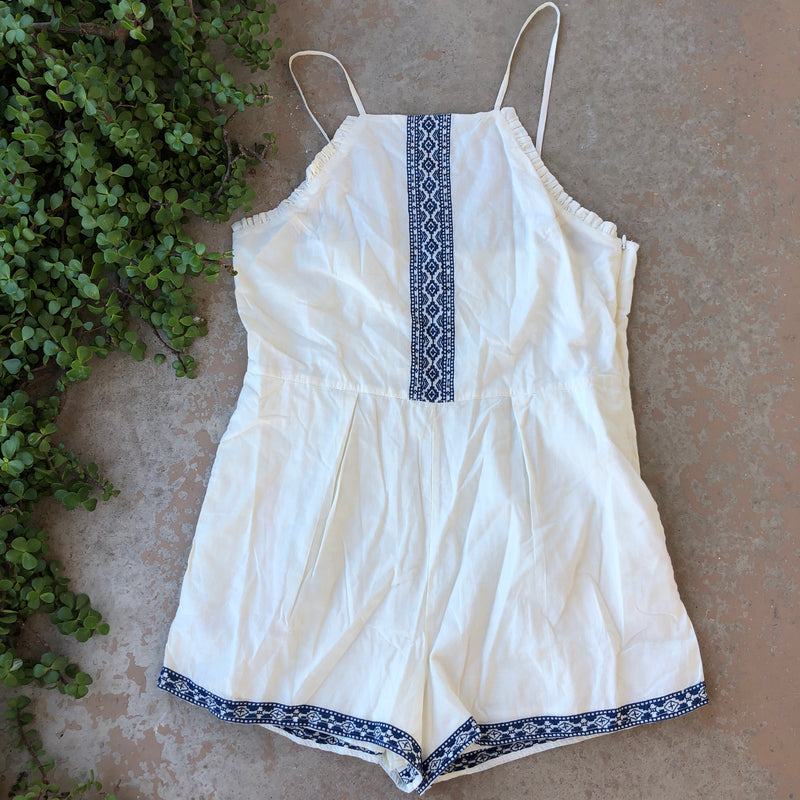 Tularosa Revolve Embroidered Romper, Size Large