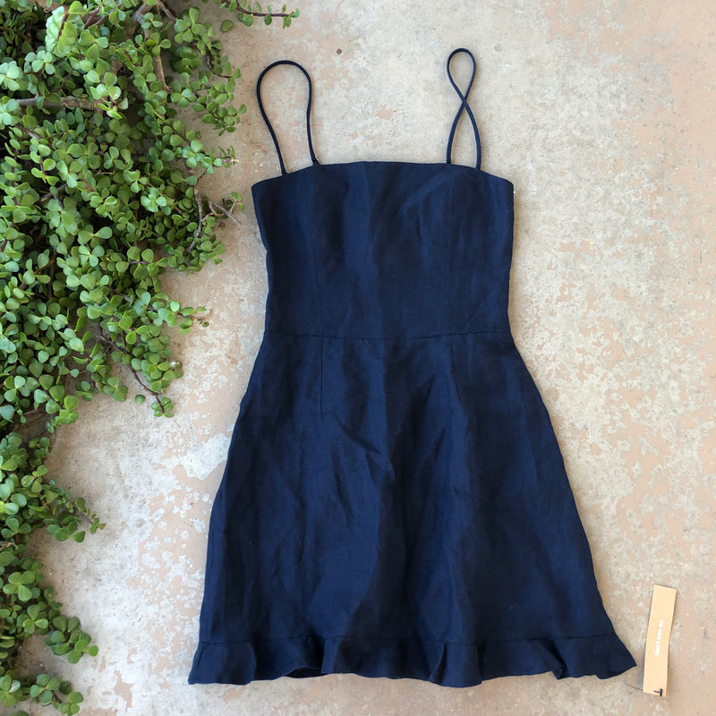 Reformation Blue Mini Dress, Size 4
