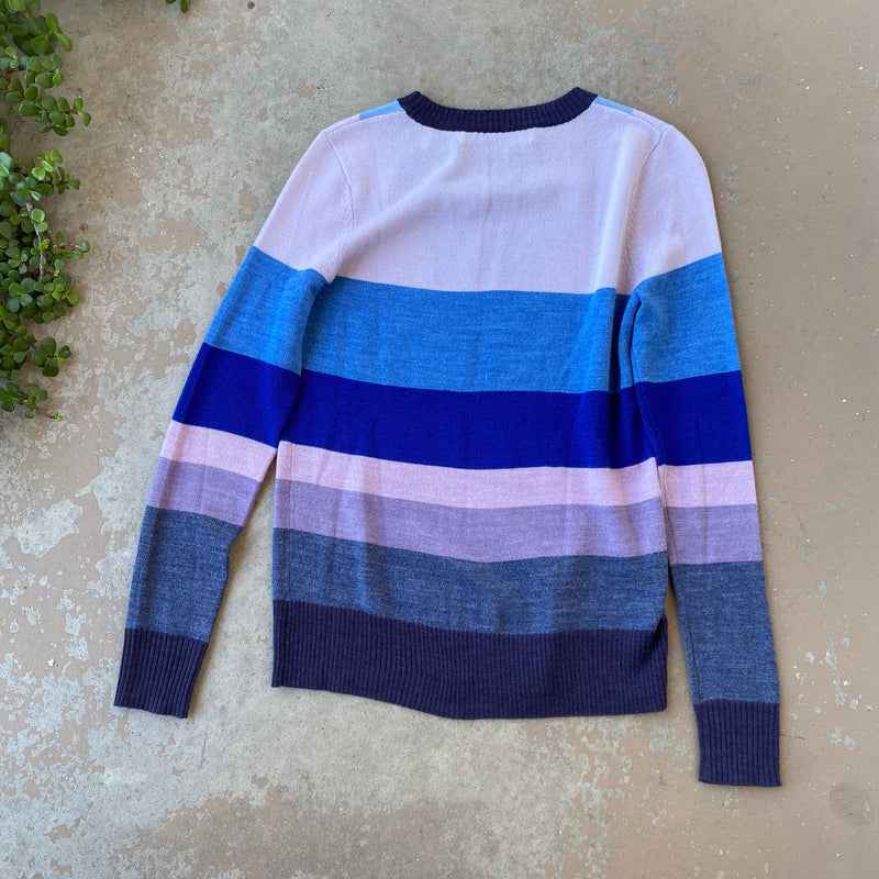Lilac & Navy Sweater, Size Small