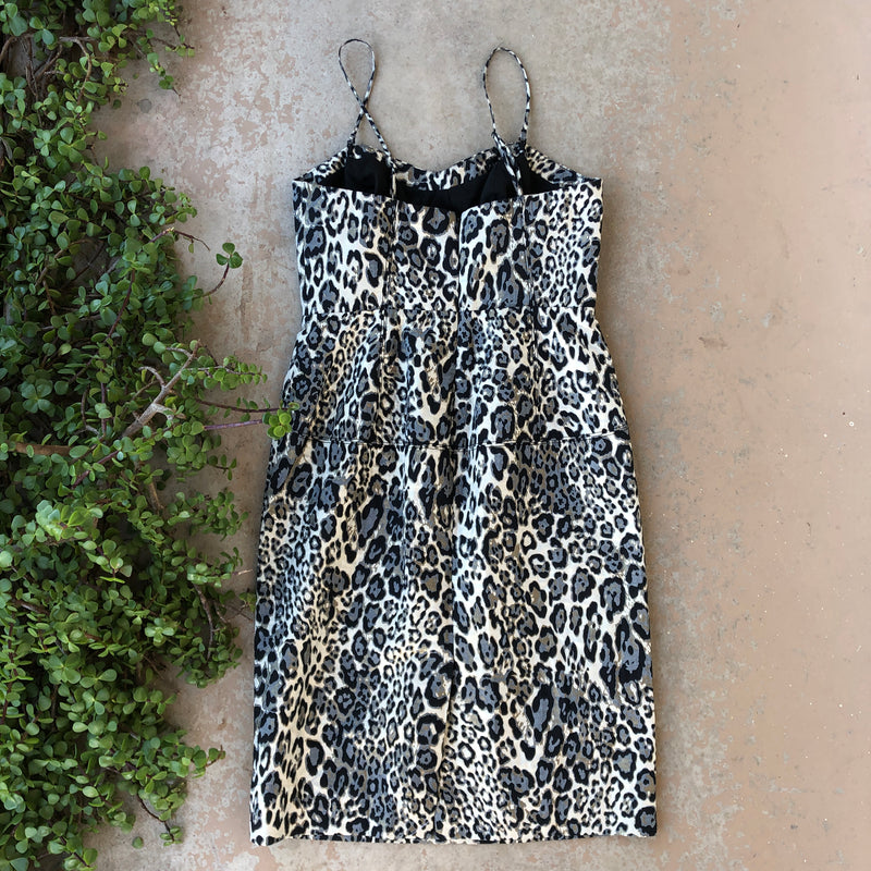 J Crew Collection Animal Print Dress, Size 6