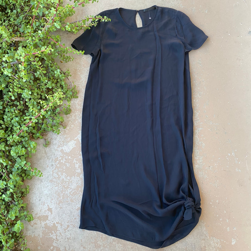 Jenni Kayne Semi-Sheer Navy Midi Dress, Size XL