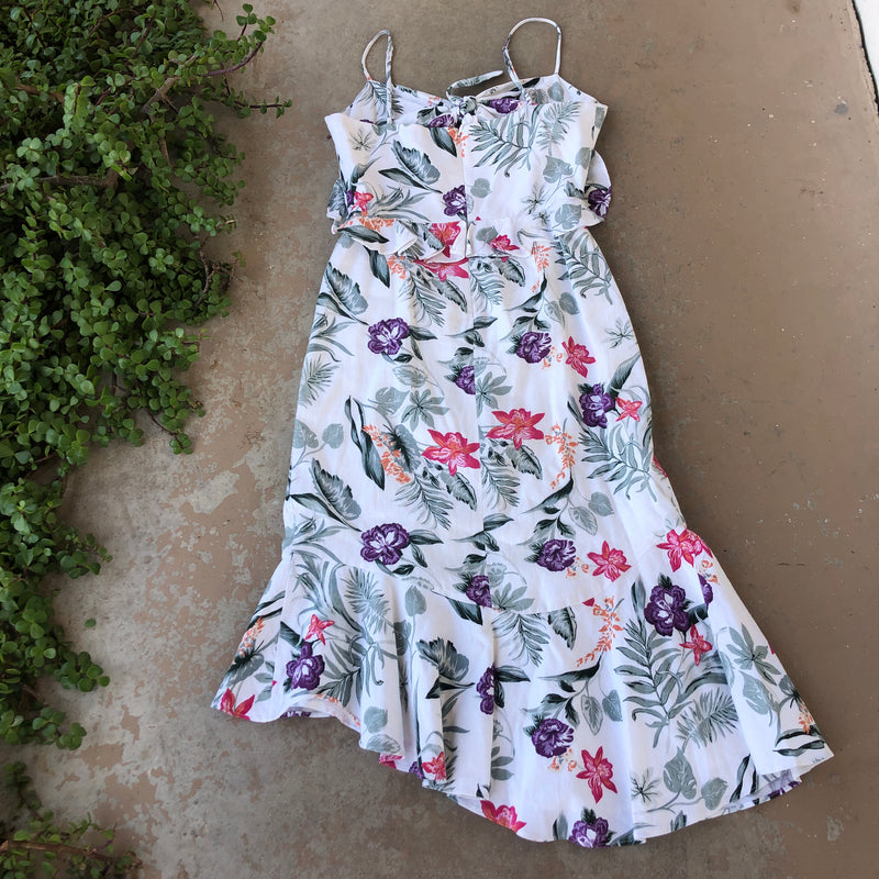 WAYF Floral Dress, Size Large