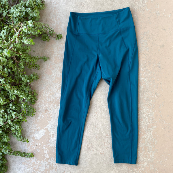 Girlfriend Collective Teal Leggings, Size Medium