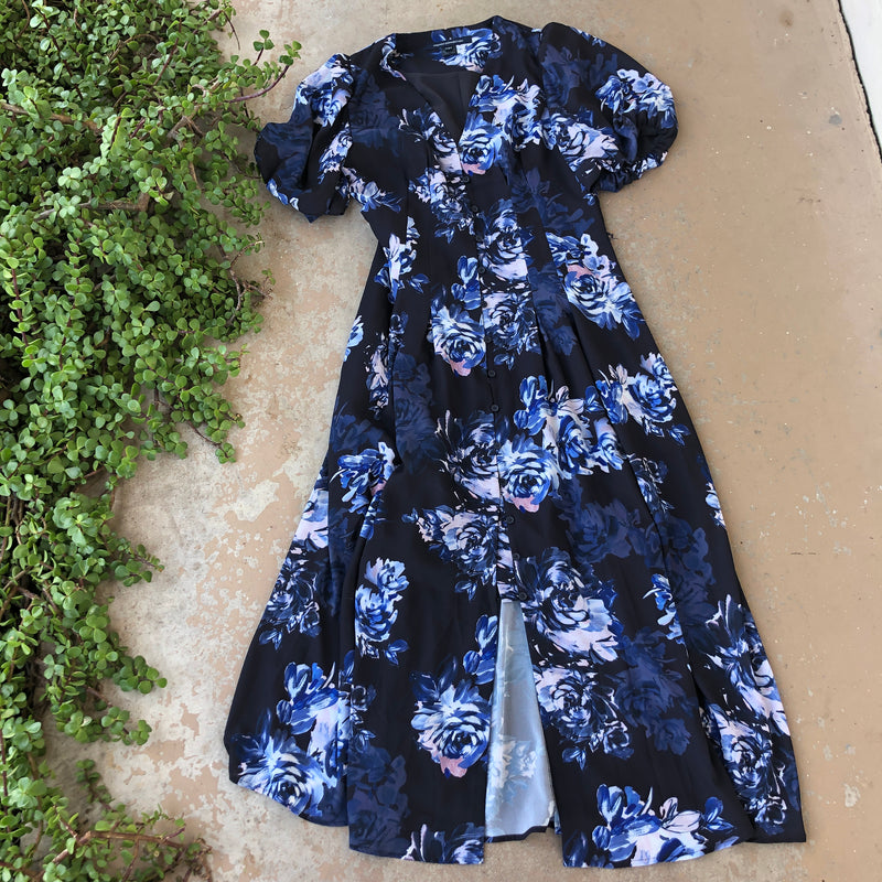 French Connection Floral Midi Dress, Size US 4