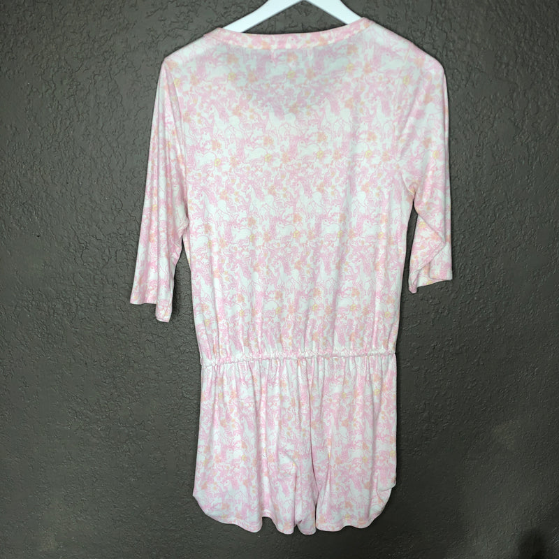 Wildfox Unicorn Sleep Romper, Size Small