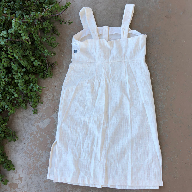 Madewell Texture & Thread Cream Midi Dress, Size Medium