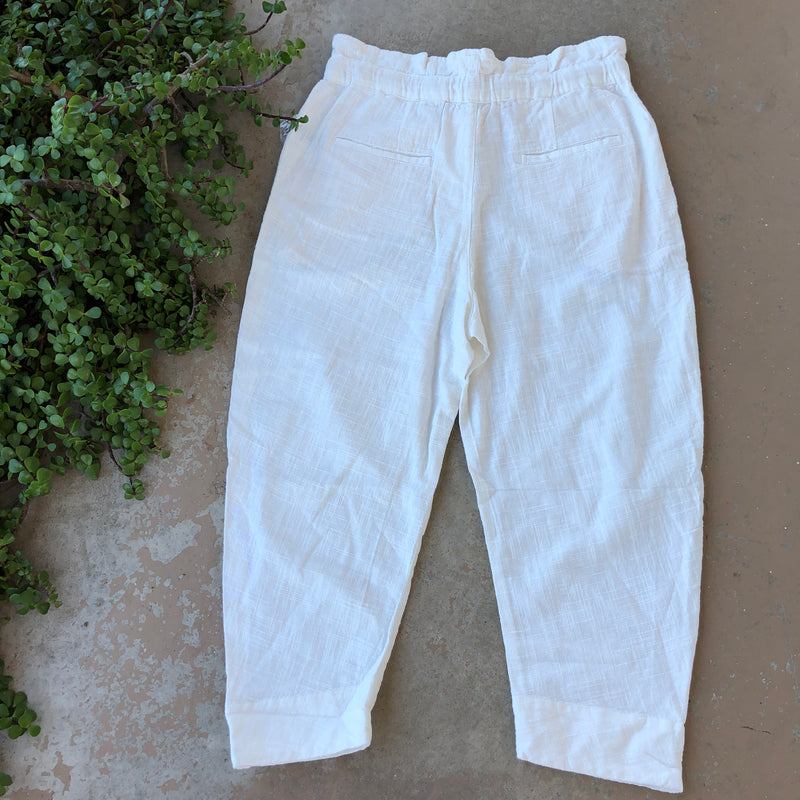 Free People Cotton/Linen Blend Pants, Size Medium