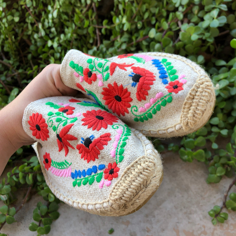 Soludos x Anthropologie Floral Espadrille Mules, Size 8.5