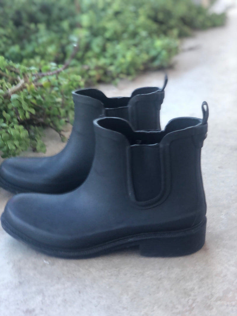 Madewell Black Rain Boots, Size 10