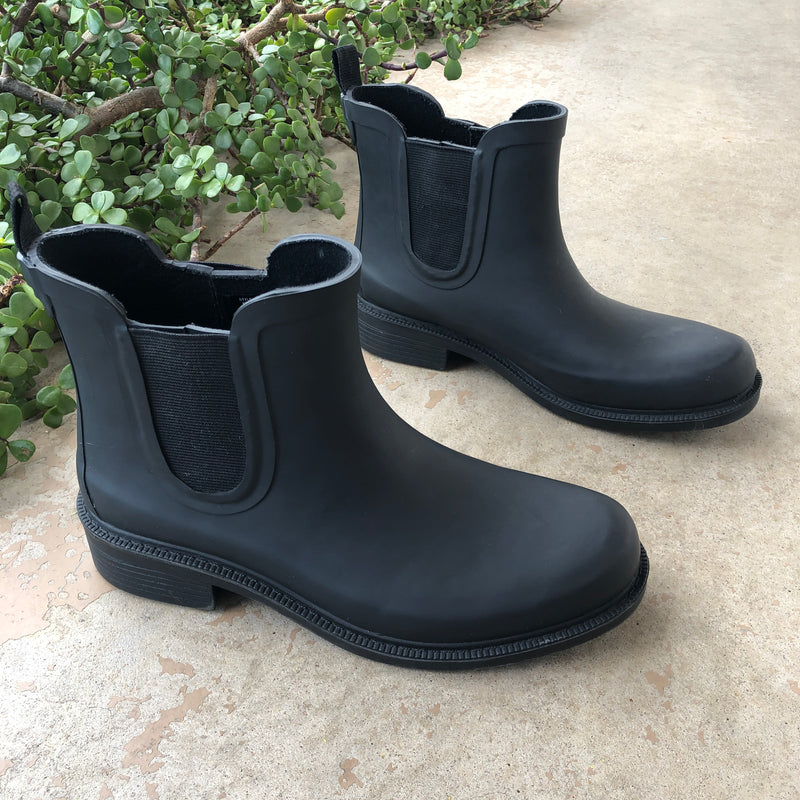 Madewell Black Rain Boots, Size 7
