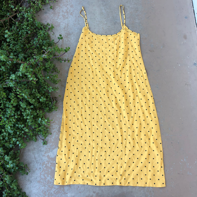 Reformation Yellow Midi Dress, Size Large