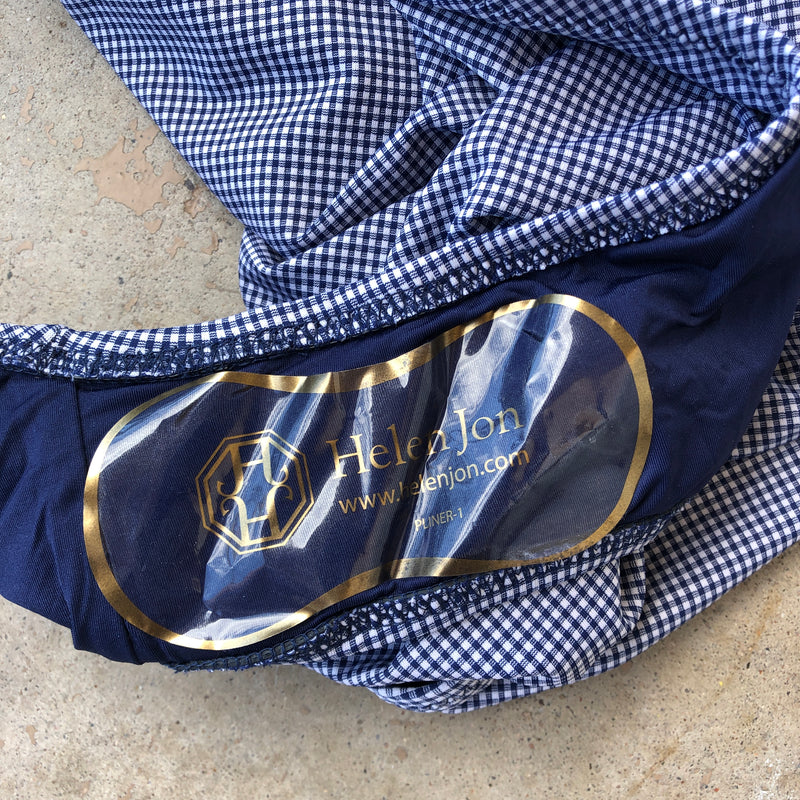 Draper James Navy Gingham Swimsuit, Size Large