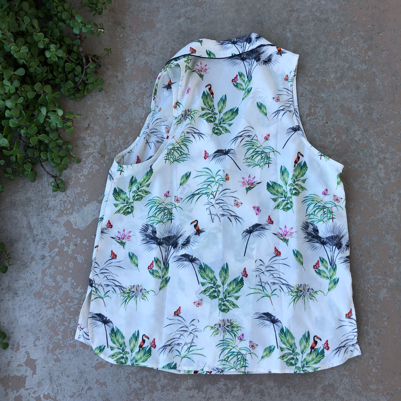 Rachel Roy Collection Tropical Top, Size Small