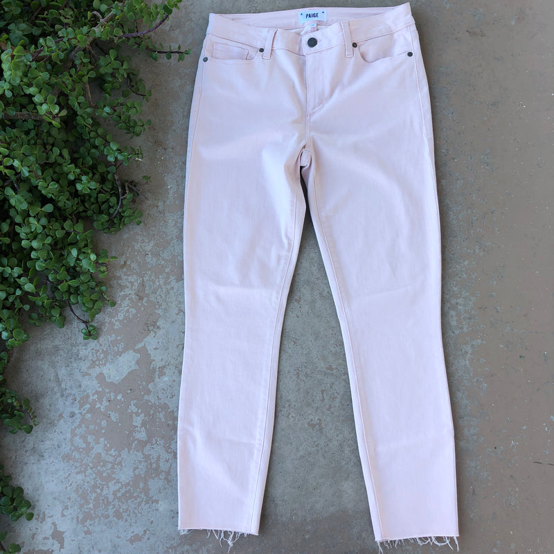 Paige Pink Skinny Jeans, Size 30