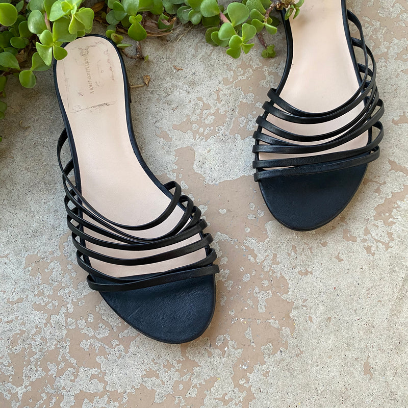 Something Navy Minimalist Sandals, Size 9