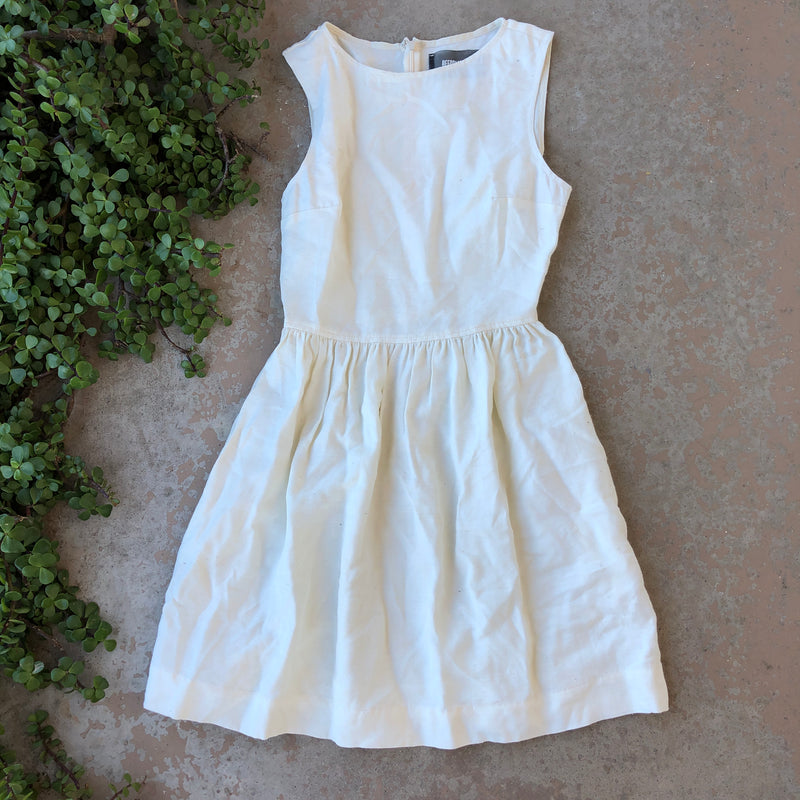 Reformation Cream Dress, Size 0