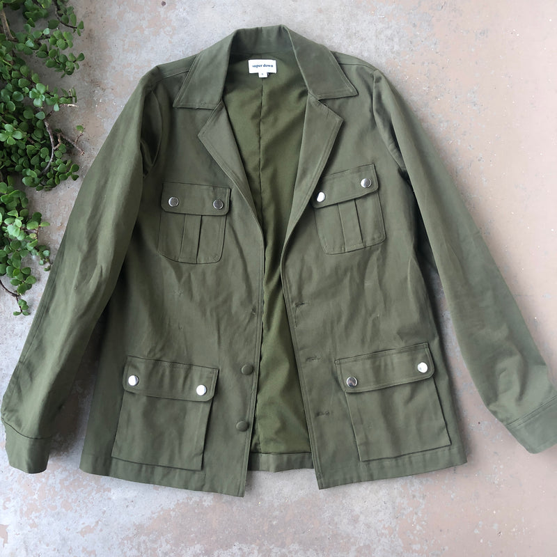 super down Military Jacket, Size Small