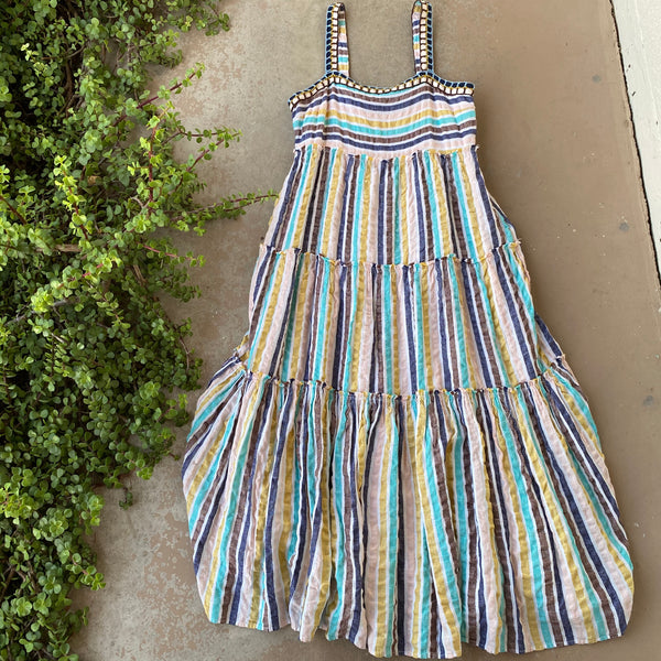 Anthropologie Postmark Stripe Dress, Size 10