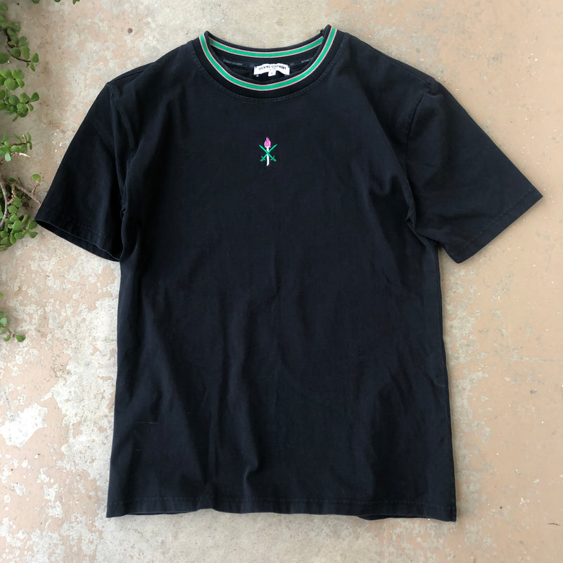 Opening Ceremony Black Embroidered Tee, Size Medium