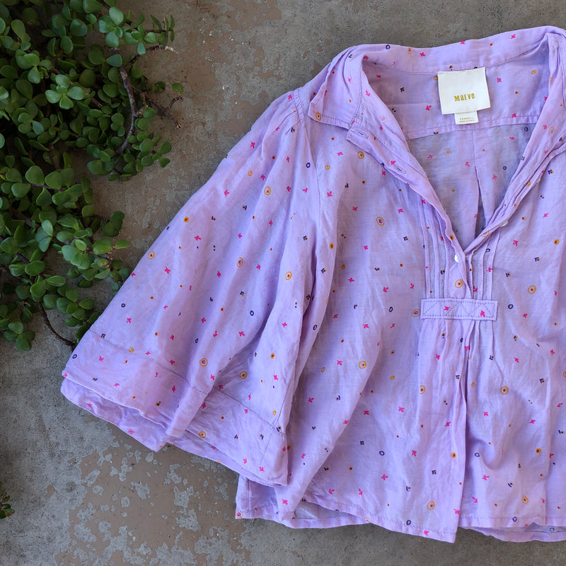 Maeve Anthropologie Floral Top, Size XS