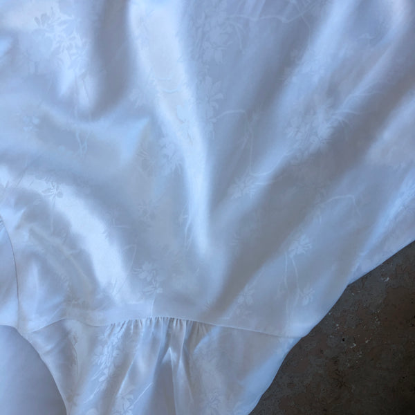 Lulu's Satin White Dress, Size XS (NWT)