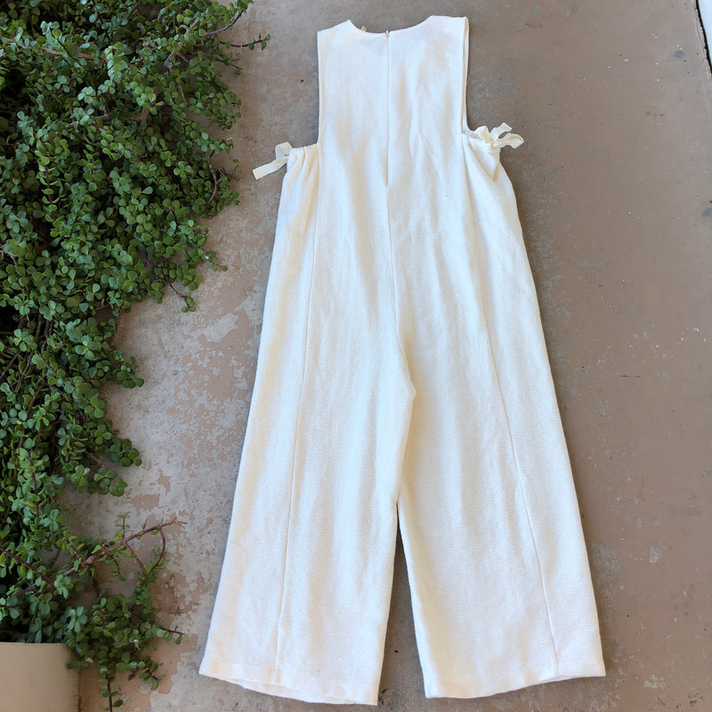 Madewell Cream Jumpsuit, Size Medium