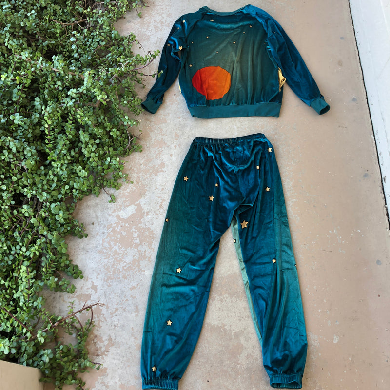 Aviator Nation Velvet Space Set, Size XS Bottoms, Small Top