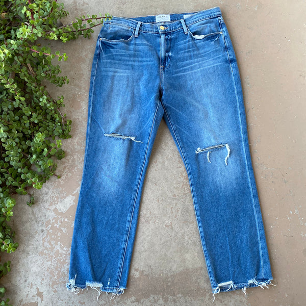 Frame Le High Straight Jeans, Fits size 10/12