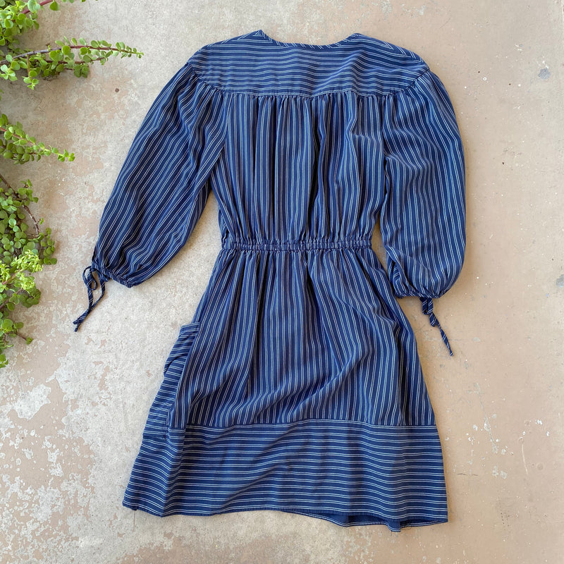 Whistles Navy Stripe Dress, Size US 4
