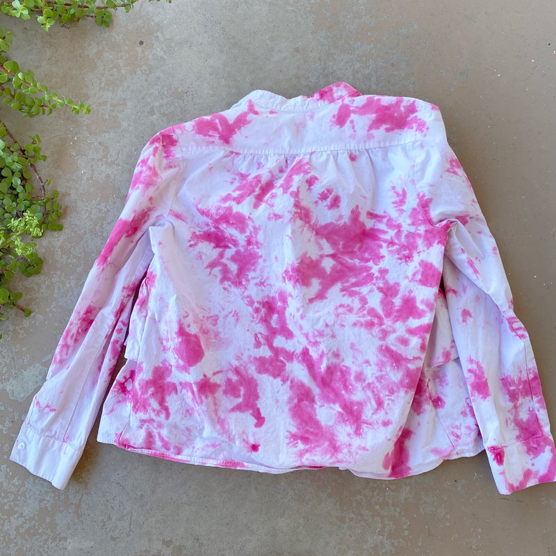 DR2 Hand Dyed Ruffle Top, Size Small