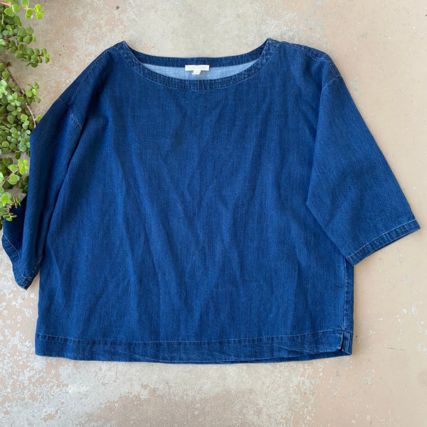Eileen Fisher Denim Boxy Top, Size Medium