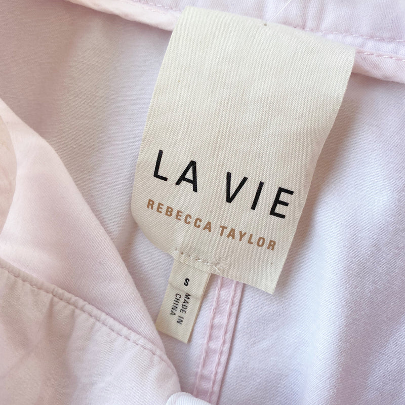 La Vie Rebecca Taylor Pink Chino Jacket, Size Small