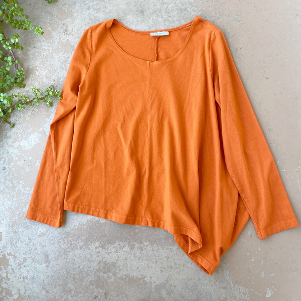 Bryn Walker Burnt Orange Top, Size Small