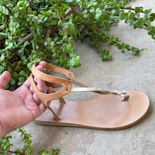 Ancient Greek Sandals Thong Slingbacks, Size 39 (US 9)
