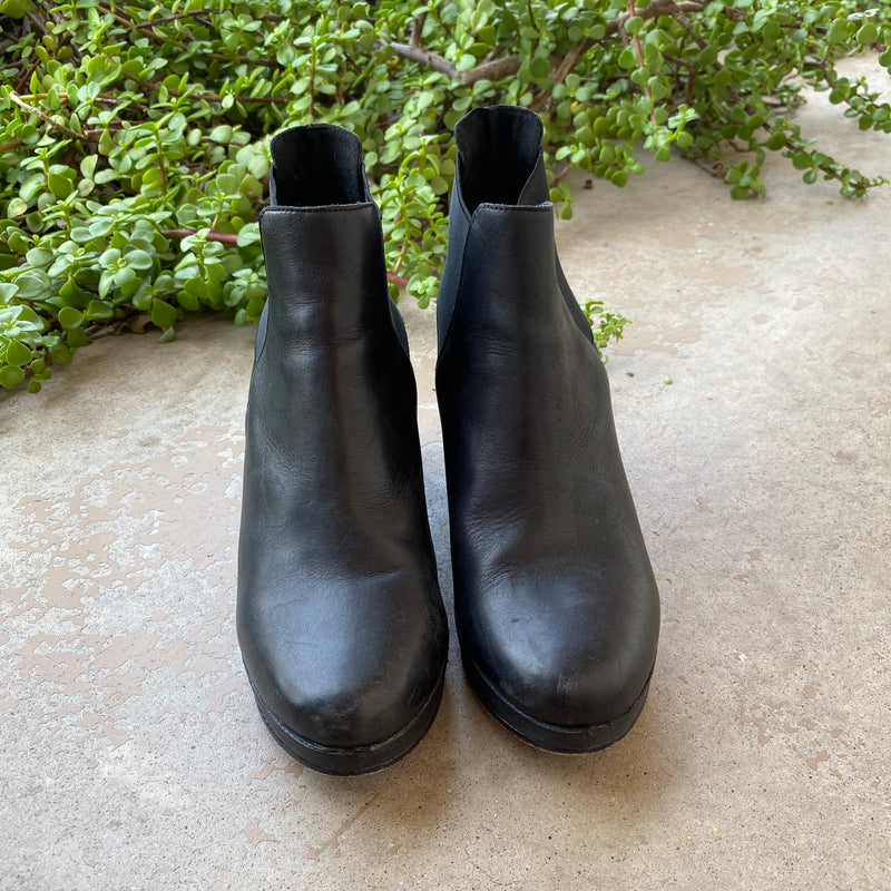 Eileen Fisher Leather Booties, Size 7