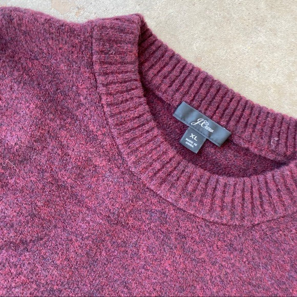 J Crew Maroon Cozy Pullover Sweater, Size XL