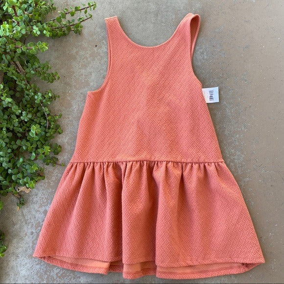 Free People Orange Pullover Dress, Size Small
