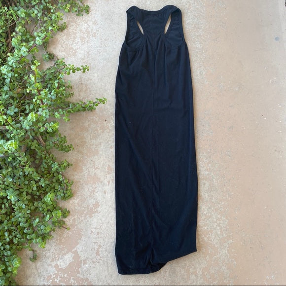 YFB Revolve Black Tank Midi Dress, Size Medium