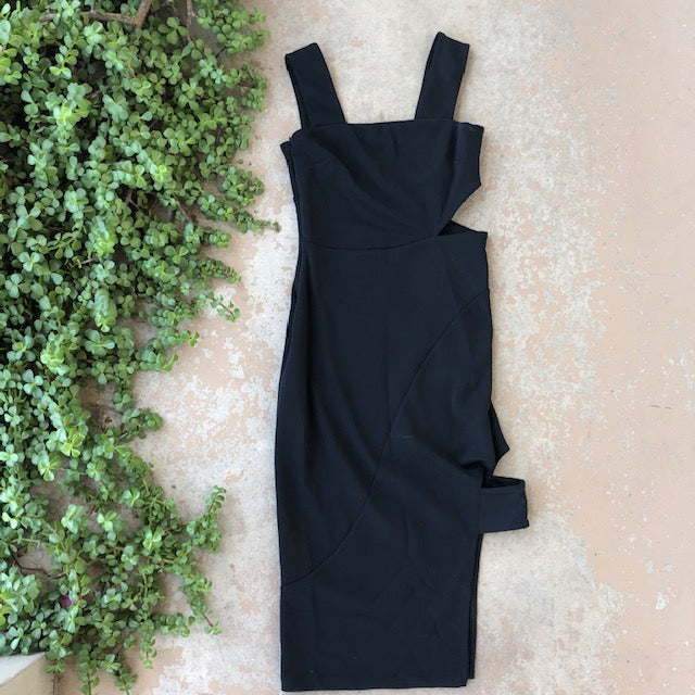Topshop Cutout Black Dress | Size