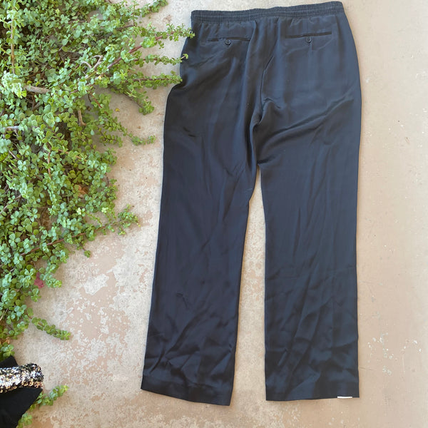 Burberry Silk Track Pants, Size US 14