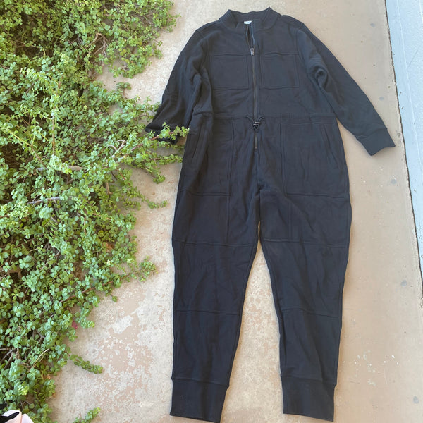 Good American The Good Fleece Cozy Jumpsuit, Size 7 (4XL)