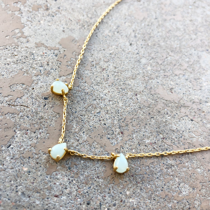 Madewell Opal Gold Necklace