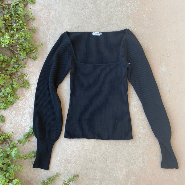 Reformation Ribbed Sweater, Size Small