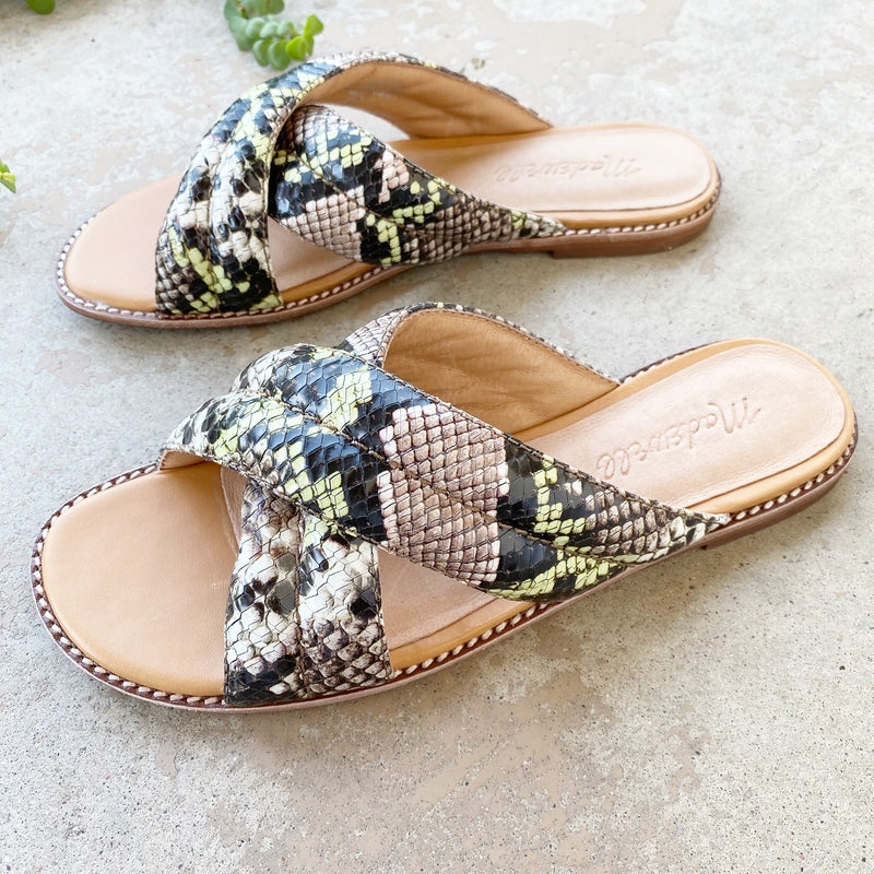 Madewell Python Leather Sandals, Sizes 5 & 11