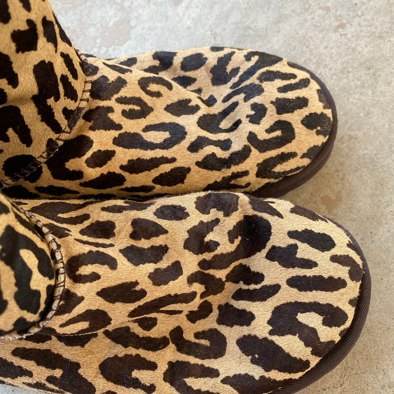 UGG Leopard Calf Hair Boots, Size US 8