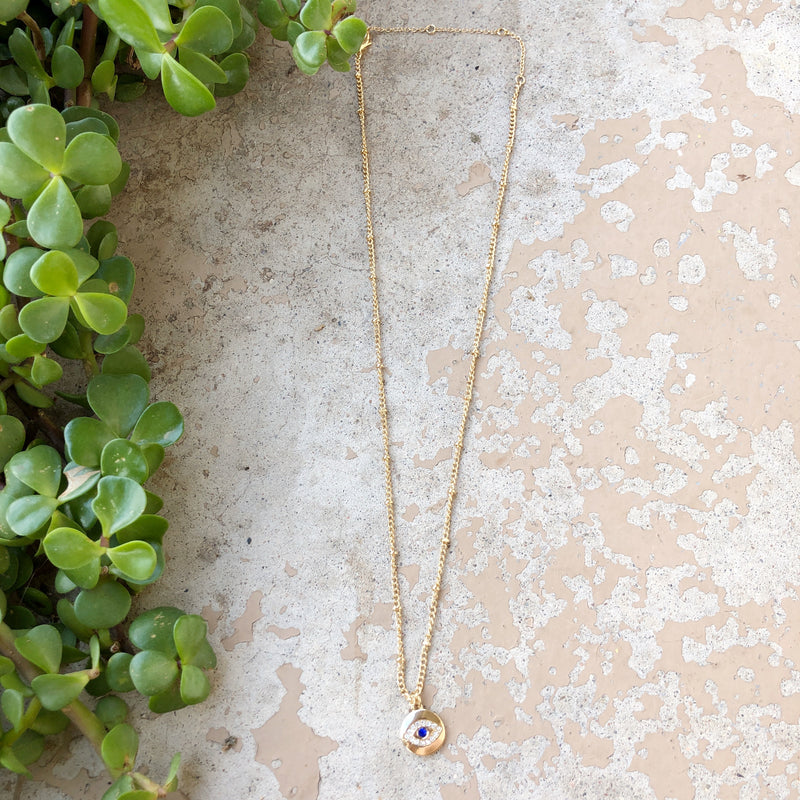Gold Eye Necklace from Nordstrom