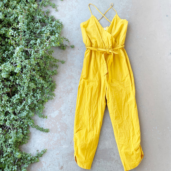 Lovers + Friends Yellow Jumpsuit, Size Medium