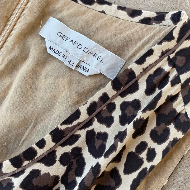 Silk Leopard Dress, Size FR 42 (US 10)