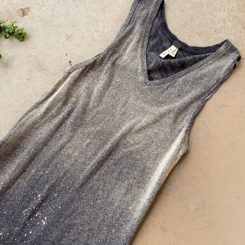 Free People We the Free Acid Wash Dress, Size Small
